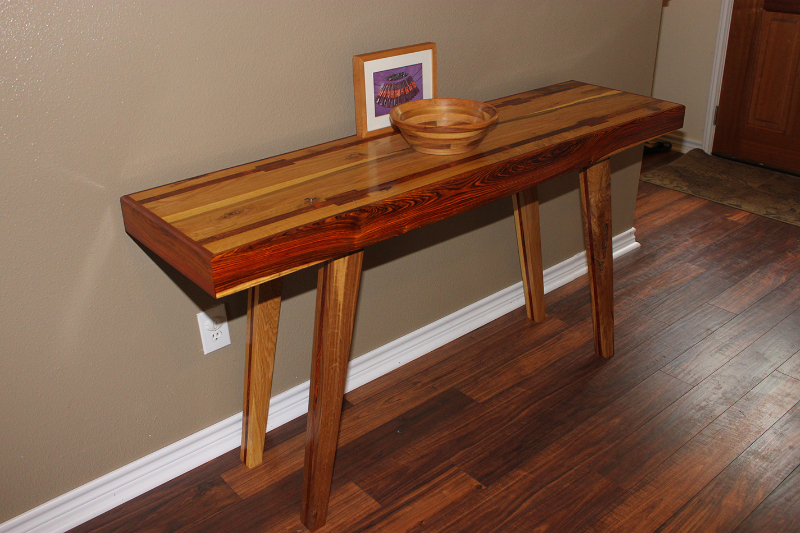 Cocobolo & Reclaimed Oak Entry Table