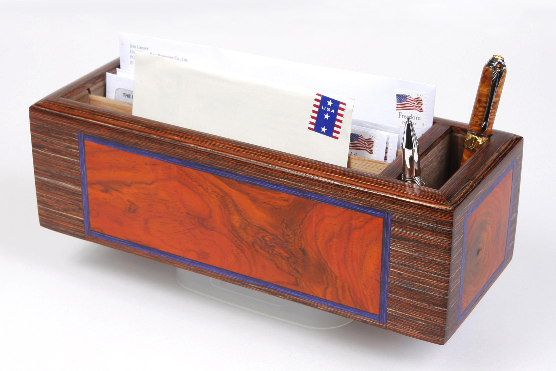 Figured Cocobolo Letter Box